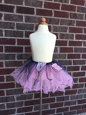 Club Tabby Girls Light Pink Zebra Tutu with Sequin Trim