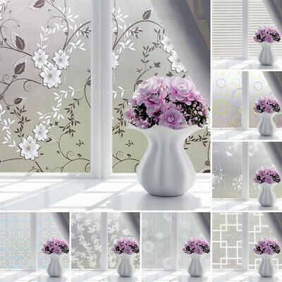 PVC Frosted Glass Window Privacy Self Adhesive Film Sticker Bedroom Bathroom
