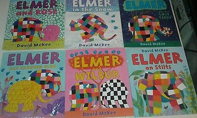 Lot of 6 Elmer Children's Books by David McKee S4