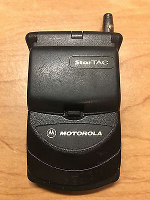vintage MOTOROLA StarTAC flip phone mobile cell with antenna no charger as is