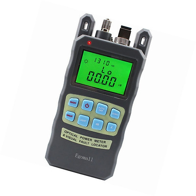 Egomall Fiber Optic Cable Tester -70 to +10dbm and 1mw 3.1mi Portable Optic Powe