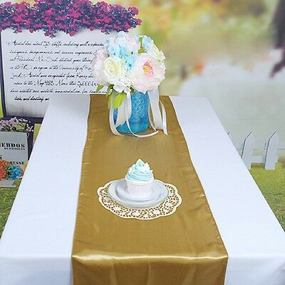 1 pc Satin Table Runners 30X275CM Wedding Party Banquet Decoration Tablecloth