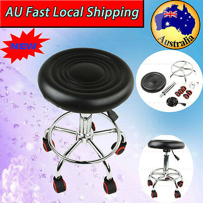 Hairdressing Salon Chair Round PU Swivel Lift Stool Barber Massage Black AU Post