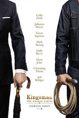 KINGSMAN THE GOLDEN CIRCLE MOVIE POSTER 2 Sided ORIGINAL Advance 27x40