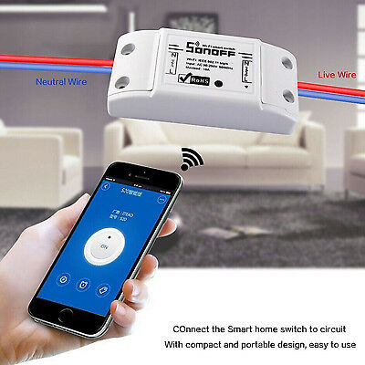 Sonoff WiFi Smart Switch Timer APP Fernbedienung Home Steckdose for IOS/Android