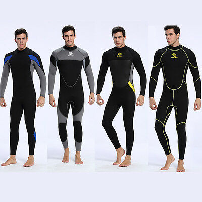 Mens WetSuit Full Body Suit Diving Suit Swim Surfing Snorkeling Water Sports 3MM