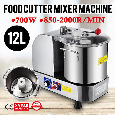 Stainless Steel Food Cutter Mixer Machine 12L Blender Meat 850-2000R/Min ON SALE