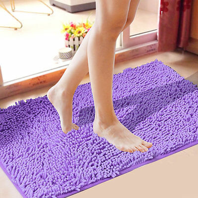 40x60cm Microfiber Bath Kitchen Floor Absorbent Rugs Bathroom Toilet Pad Mats AU