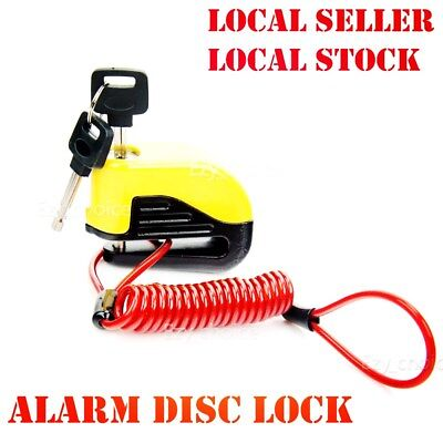 Motorcycle Bike Disc Lock Security Alarm 6mm pin for Kawasaki Honda Yamaha AU