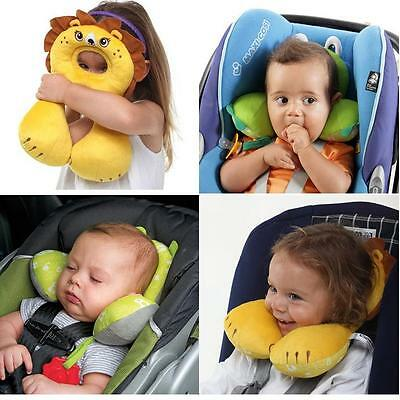 Baby Child Kid Head Neck Support Headrest Travel Car Pillow Cushion Animal Shape