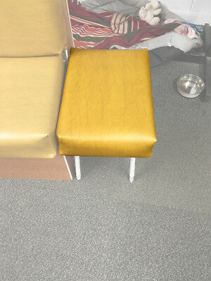 Westfalia SO42 Vinyl Cross Stool Cover in Mustard Yellow C9566