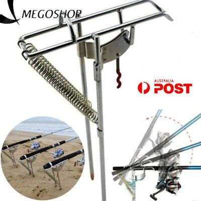 Automatic Adjustable Tackle Bracket Double Spring Fishing Rod Holder Angle Fish。