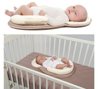 Infant Baby Cotton Anti Roll Pillow Sleep Pad Prevent Flat Head Cushion New Sale
