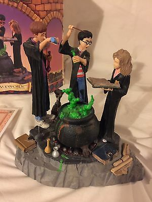 """Mattel Toys Harry Potter Limited Edition Resin Statue """"Homework"""" w/Box"""