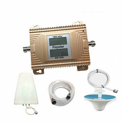 High Gain 2G 3G 4G mobile signal booster dual band 900/1800MHz dcs gsm repeater