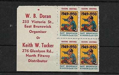 Block of 4 1949-50 Christmas Stamps