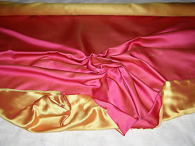 """Vintage Scalamandre Fabric - Sold By Yard - """"2-Tone Satin""""-100% Silk- Hand-Woven"""