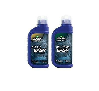 Vitalink Easy Control pH Up and Down 250ml 1lt Hydroponic Acidity Control