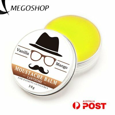 100% Natural Organic Styling Beard Wax Moustache Balm Beeswax Moisturizing Balm.