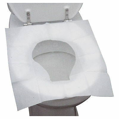 15 Disposable Toilet Seat Covers Hygienic Flushable Travel Camping Pocket Size