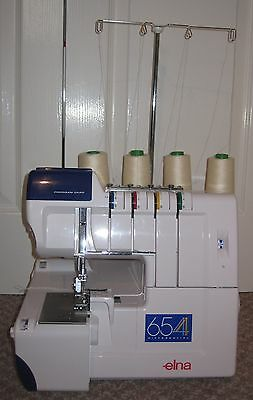 Elna 654 Overlocker - original packaging, barely used and in excellent condition