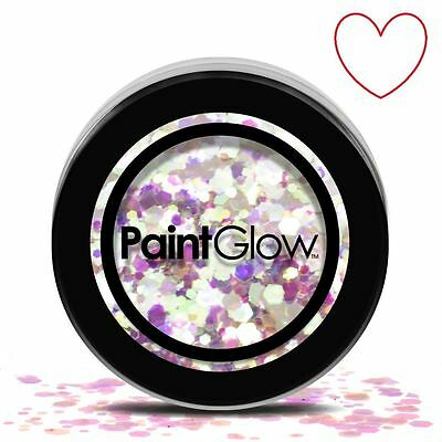 Paint Glow Chunky Glitter Face Hair Flakes Sparkle Festival CHGR06 Unicorn Tears