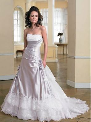 Strapless satin wedding gown with beaded lace (was $24490) Sophia Tolli Y2711