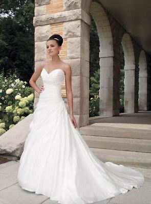 Classic strapless satin wedding gown with pleats at waist (was $2297) MC19200