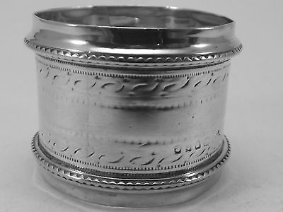 Victorian HM Silver Napkin Ring (338a) - London c1880 - 26 grams - sterling