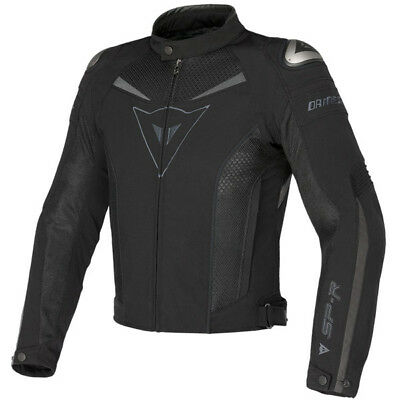 Dainese Super Speed Vented Textile Motorcycle Jacket - Black / Grey