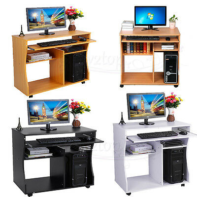 Home/Office Wooden Computer PC Table Desk Work / Station / Furniture 3 Colour