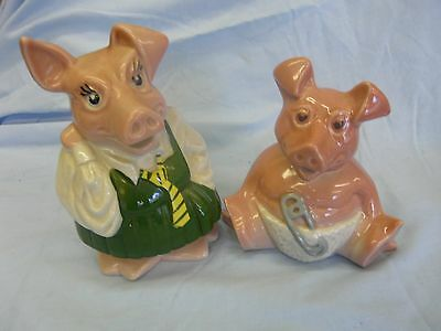 Collectable Sister Annabel & Baby Pig Nat West Piggy Banks