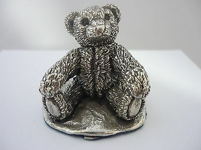 Superb Vintage Sterling Silver Teddy Bear By Country Artists