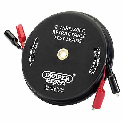 Draper Expert 30ft 2 Wire Retractable Test Leads 64766