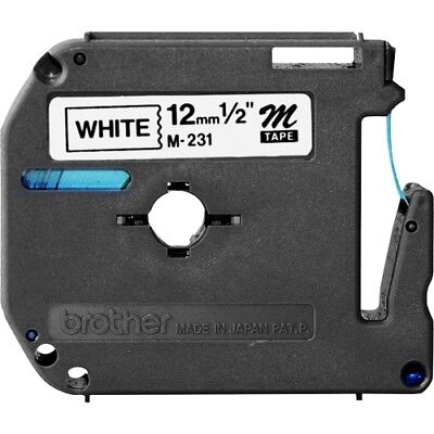 NEW Brother M231 P-touch Nonlaminated M Srs Tape Cartridge Label 1 2in Black on