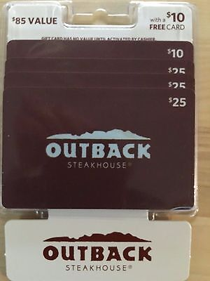 Outback Giftcard pack $85 Value