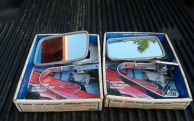 NOS Vintage pair of Stainless Low mount  truck or van mirrors