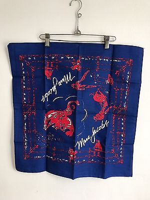Brand new! MARC BY MARC JACOBS Red & Blue Cowboy Bandana Scarf