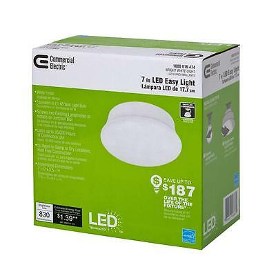 Commercial Electric 7 in. Bright White LED Light 54606241 in Lot of 1,2,8,12, 24