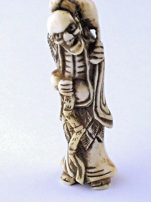 Antique Japanese Figurine Chokaru Sennin Netsuke Possibly 18th Century