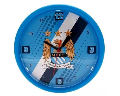 Manchester City FC Wall Clock Stripe design Official Licensed Football Fan Gift