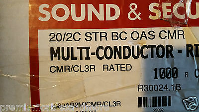 Southwire/Tappan R30024 575727 20/2C Riser Str Shield Bare Comm Cable CMR /100ft