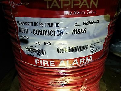 Southwire/Tappan F60340 580132 14/2C Stranded Fire Alarm Cable Riser Red /100ft
