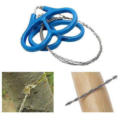 Great Steel Wire Saw Outdoor Scroll Travel Camping Hiking Hunting Survival ToolF