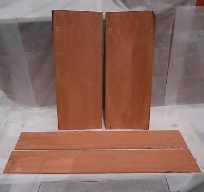 Guitar Back and Sides set Flamed Swiss Pear Luthier Tonewood
