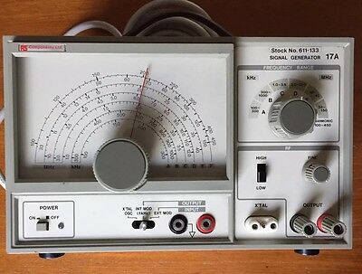 RS Components 17A 100KHz to 150MHz Signal Generator. Stock No. 611-133. VINTAGE.