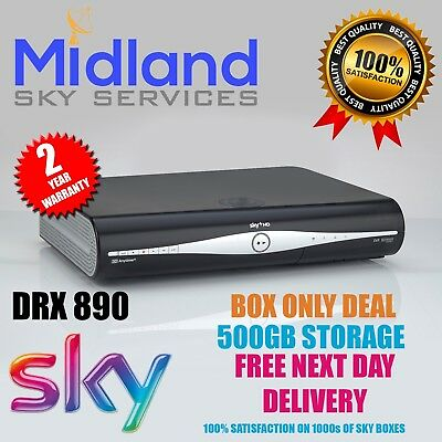 Sky Plus +Hd Box Amstrad Drx890 Box Only Deal **500Gb****slimline Box******