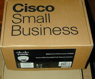 New Cisco SMALL Business VC220  VC220-K9 Dome WDR Network Camera Day/Night PoE