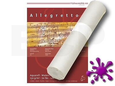 Aquarellpapier Allegretto 150g 1,25x20m 1 Rolle