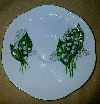 2 Shelley Saucers with Lily of the Valley 5.75 in
